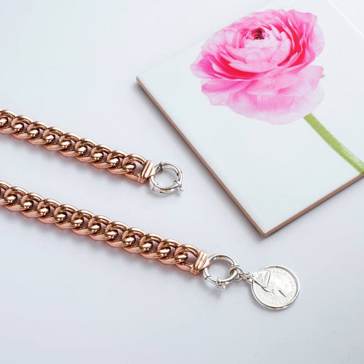 Von Treskow Rose Gold Plated Big Mama Bracelet with sterling silver bolt - with no charm - Von Treskow - Jewellery - Paloma + Co Adelaide Boutique