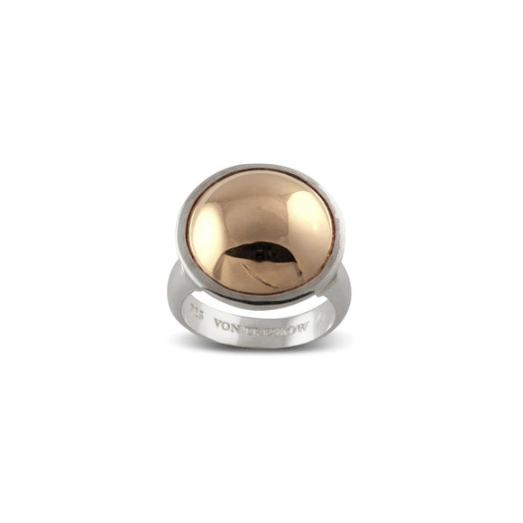 Von Treskow SILVER & YELLOW GOLD DOME RING - Von Treskow - Jewellery - Paloma + Co Adelaide Boutique