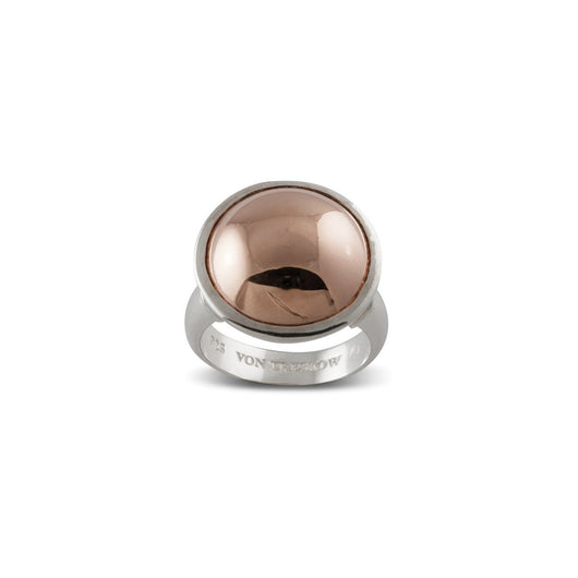 Von Treskow SILVER & ROSE GOLD DOME RING - Von Treskow - Jewellery - Paloma + Co Adelaide Boutique