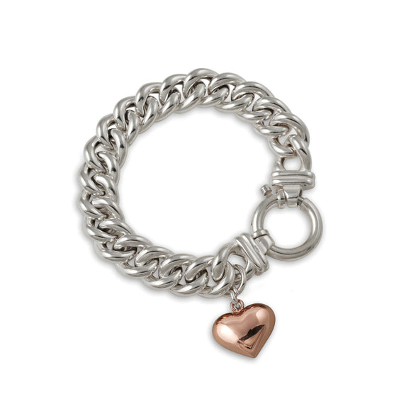 Von Treskow SMALL MAMA BRACELET WITH ROSE GOLD HEART - Von Treskow - Jewellery - Paloma + Co Adelaide Boutique