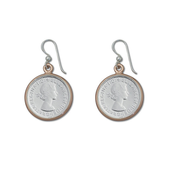 Von Treskow TWO TONE SIXPENCE EARRINGS - Von Treskow - Jewellery - Paloma + Co Adelaide Boutique