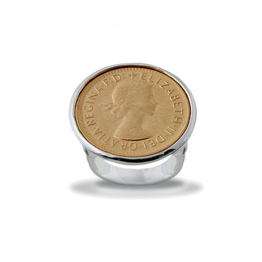Von Treskow YELLOW GOLD SHILLING COIN RING