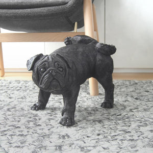 F Pug The Peeing Pug by white Moose