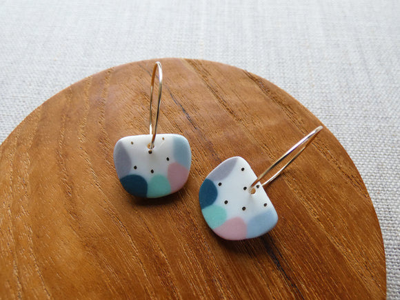 and O Design Hand Made Porcelain Inlay Earrings