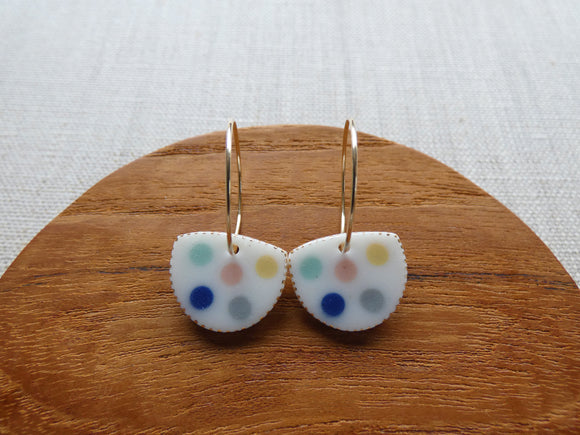 and O Design Hand Made Porcelain Fragment Earrings