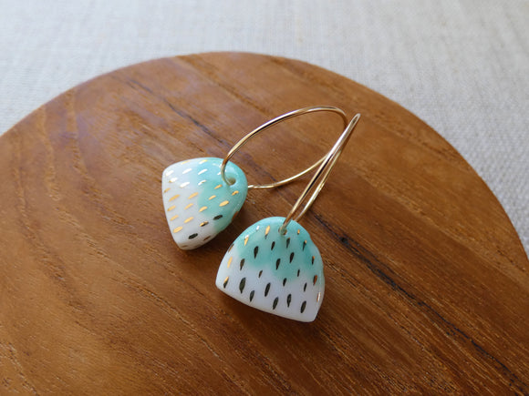 and O Design Hand Made Porcelain Earrings