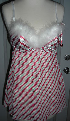 Candy cane holiday babydoll