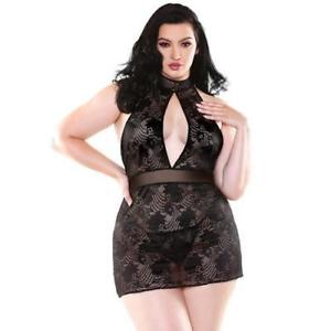 Floral lace dress with g string set
