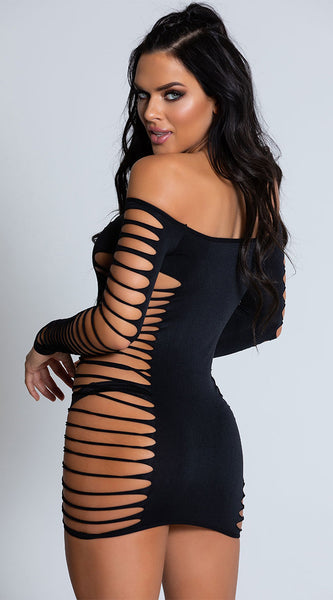 Slash mini dress....regular size....2 colors