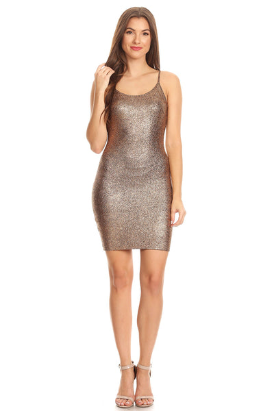 shiney lame club dress...magenta