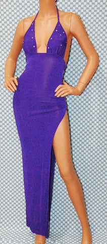 Purple halter gown