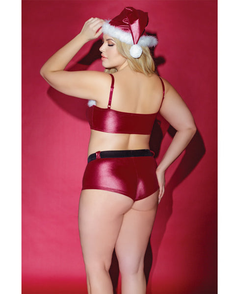 Christmas Bandeau and booty short set...queen size