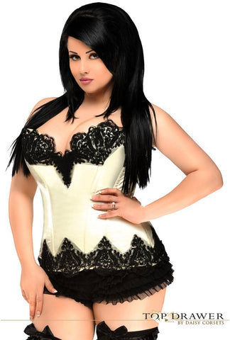 Beaded and sequin overbust corset