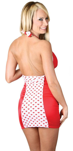 Red/white Valentine halter dress...queen size
