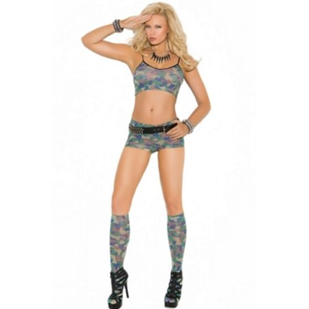 Camo set with knee high stockings