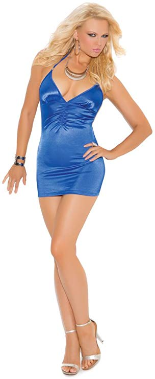 Blue Stretch Satin club dress...plus size