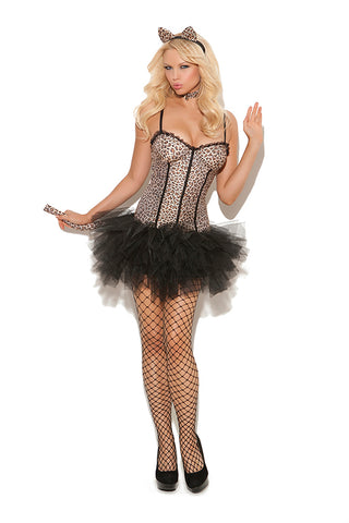 Sexy Leopard Tutu dress costume set