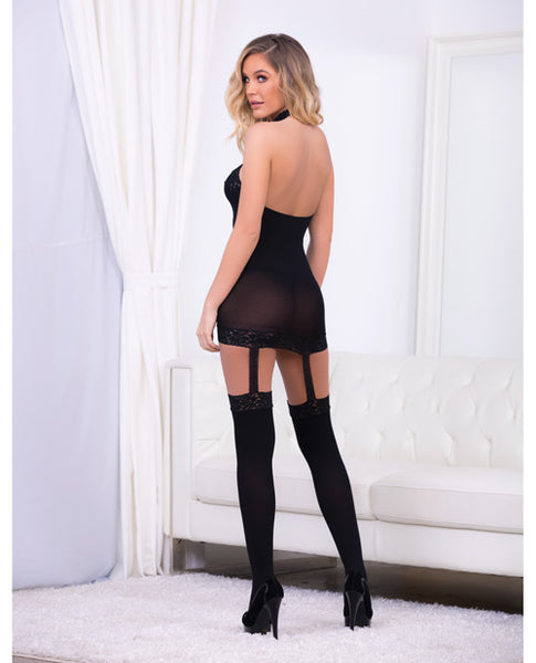 Halter garter dress with hose....regular size