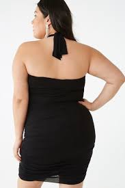 Ruched halter dress...queen sizes