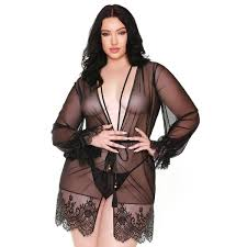 Lace robe and g sring...queen sizes