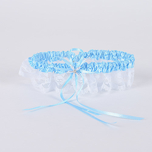 Blue and White Garter