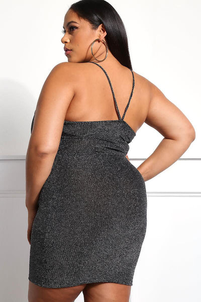 Metallic club dress....plus sizes