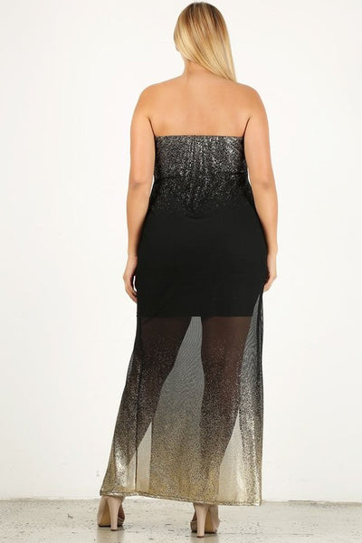 Sparkly maxi dress...plus sizes.