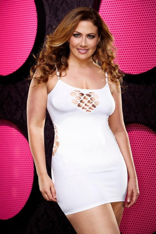 White cage mini dress,,,queen size