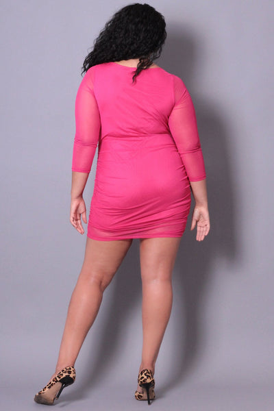 Mesh Cutout Dress in Queen Size