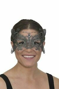 Silver lace filigree butterfly mask