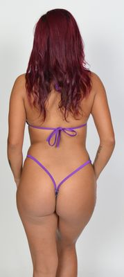 Purple/silver lame zebra two piece set