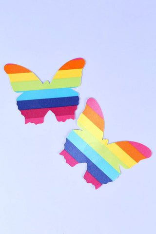Rainbow butterfly pasties