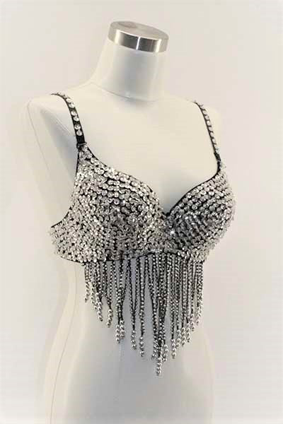 Sequin with Dangles Bra (2 colors)