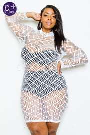 white net dress...queen sizes