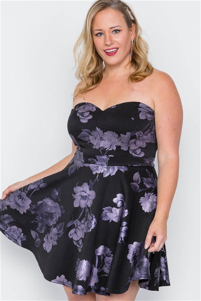 Floral fit and flare dress.....queen sizes