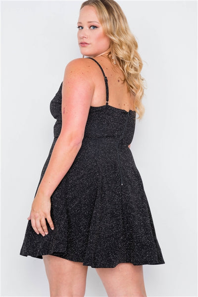 Sparkly skater flare mini dress...queen sizes