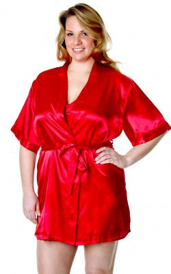 Satin Charmeuse Robe Queen Size