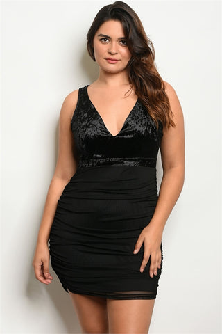 Black cowl club dress....queen sizes
