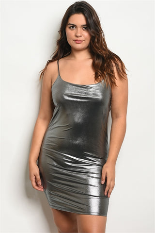 Charcoal clubwear dress...queen sizes