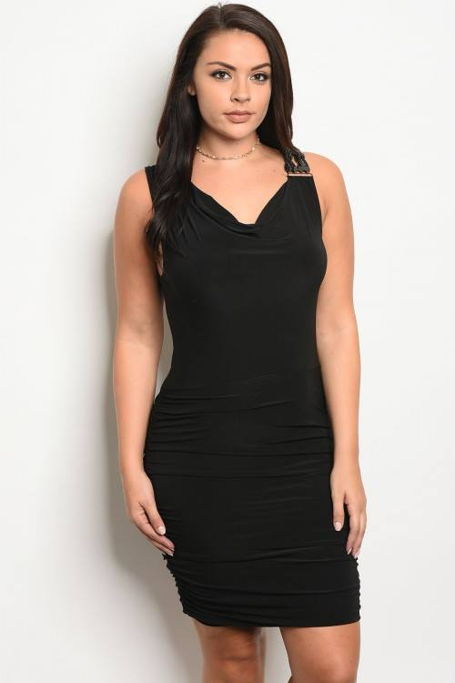 Black clubwear dress with chain strap embellishment...queen size