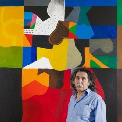 Dia Azzawi, Iraqi-born painter and sculptor