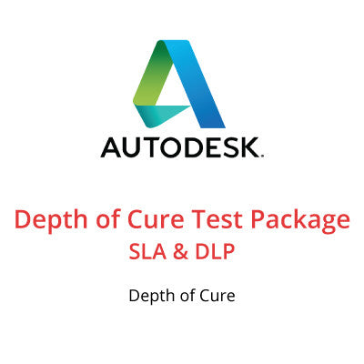 Depth of Cure Test Package for SLA & DLP
