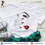 Red Nail Lips T-Shirt - Shop Sassy Chick