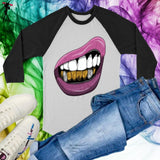 Purple Lips Long Sleeves