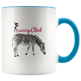 Coffee Zebra Ceramic Mug - Blue | Shop Sassy Chick