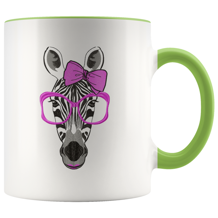 Zebra mug Ceramic White Coffee Mug - Green | Shop Sassy Chick