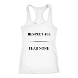 Respect All Racerback Tank Top - White | Shop Sassy Chick