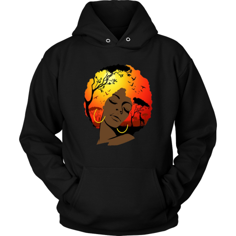 Afro Lady Hoodies