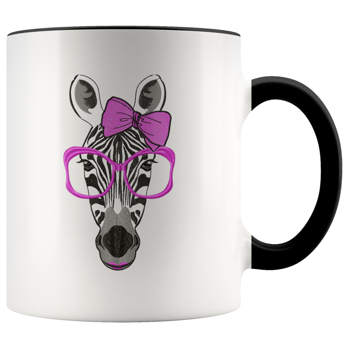 Zebra mug Ceramic White Coffee Mug - Black | Shop Sassy Chick