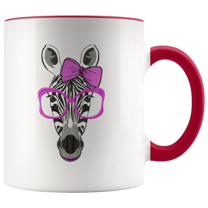 Zebra mug Ceramic White Coffee Mug - Red | Shop Sassy Chick